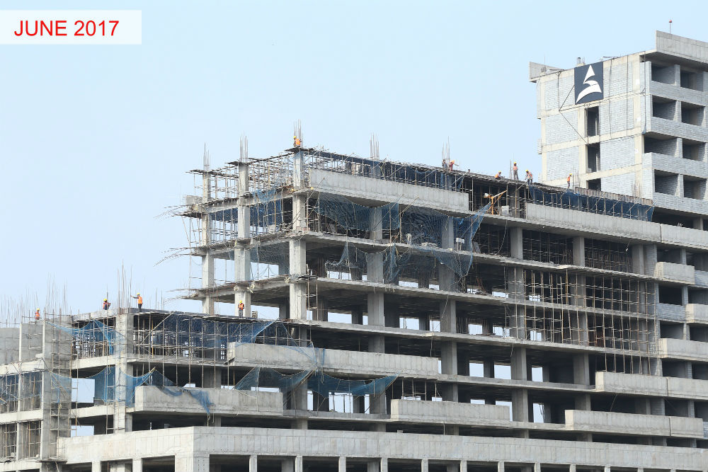 Phase 3-7th & 10th Floor Roof Slab work in progress