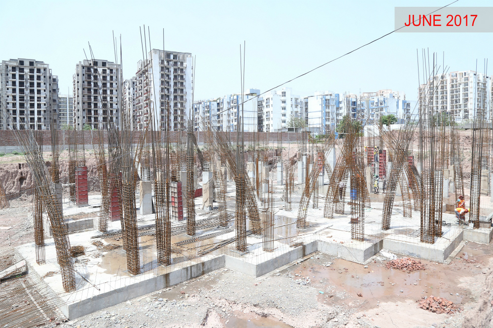 Tower J - Raft Foundation work in progress