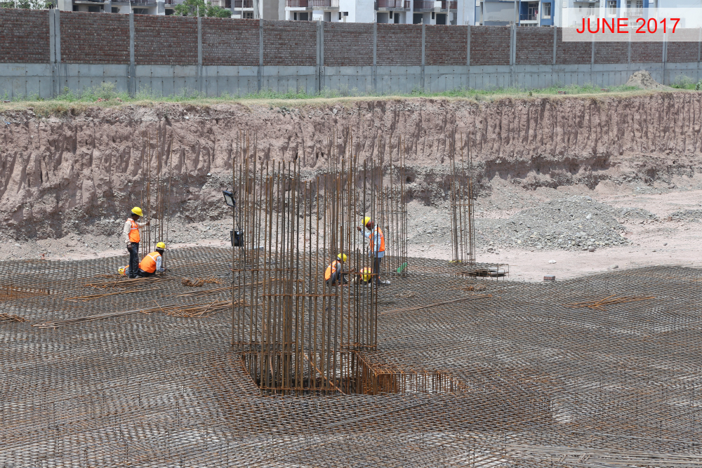 Tower O - Raft Foundation Reinforcement