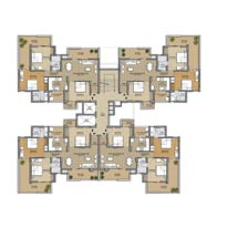 Cluster Plan - 3BHK+Servant Room - 1650 Sq. Ft.