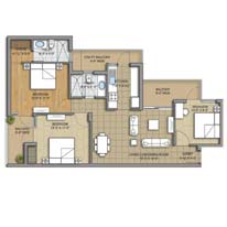 Unit Plan - 3BHK - 1475 Sq. Ft.