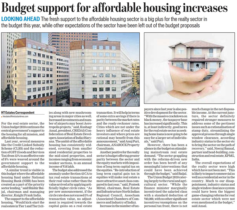 BUDGET	SUPPORT FOR	AFFORDABLE	HOUSING	INCREASES